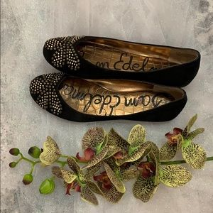 Sam Edelman Flats with Gold Accents